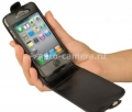 Чехол для iPhone 4 BeyzaCases Flip Case, Black (BZ17423)