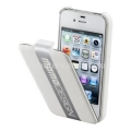 Чехол для iPhone 4/4S Cellular Line Momo Design Flap, цвет белый