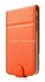 Чехол для iPhone 5 / 5S Capdase Folder Case Upper Polka, цвет orange/grey (FCIH5-UP7G)