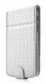 Чехол для iPhone 5 / 5S Capdase Folder Case Upper Polka, цвет white/grey (FCIH5-UP2G)