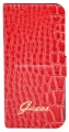 Чехол для iPhone 5 / 5S GUESS CROCO Folio ultra slim, цвет red (GUFLHP5CRR)