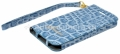 Чехол для iPhone 5 / 5S GUESS CROCO Wallet slim Strap, цвет blue (GUWAP5CRN)