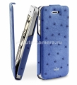 "Чехол для iPhone 5 / 5S PURO Eco-Leather ""Nandu"" w/vertical Flip, цвет blue (IPC5NANDUBLUE)"