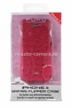 "Чехол для iPhone 5 / 5S PURO Eco-Leather ""Nandu"" w/vertical Flip, цвет pink (IPC5NANDUPNK)"
