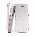 "Чехол для iPhone 5 / 5S PURO Eco-Leather ""Nandu"" w/vertical Flip, цвет white (IPC5NANDUWHI)"
