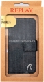 Чехол для iPhone 5 / 5S Replay Denim Booklet, цвет Dark blue (134REB585.25)