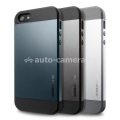 Чехол на заднюю крышку iPhone 5 / 5S SGP Case Slim Armor Metal Series, цвет satin silver (SGP10090)