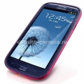 Чехол на заднюю крышку Samsung Galaxy S3 (i9300) SGP Neo Hybrid Color Case, цвет Rubine Red (SGP09365)