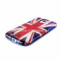Чехол на заднюю крышку Samsung Galaxy S4 (i9500) PURO Flag Covers, цвет UK (SGS4UK1)