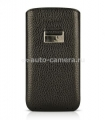 Кожаный чехол для HTC Desire HD BeyzaCases Retro Super Slim Strap, цвет flo black (BZ18987)