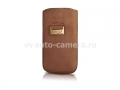 Кожаный чехол для HTC Desire HD BeyzaCases Retro Super Slim Strap, цвет tan (BZ21154)