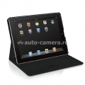 Кожаный чехол для iPad 3 и iPad 4 Macally Protective Case with Stand, цвет black (SHELLSTAND-3B) (SHELLSTAND-3B)