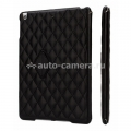 Кожаный чехол для iPad Air Jisoncase со стеганым узором, цвет black (JS-ID5-02H10)