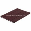 Кожаный чехол для iPad Air Melkco Leather Case Slimme Cover Ver.1, цвет Vintage Red