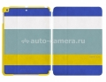 Кожаный чехол для iPad Air Uniq March, цвет Blue/Yellow (PD5GAR-MARBLU)