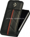 Кожаный чехол для iPhone 4/4S Ferrari Hard Case With Flap California, цвет черный (FECFFL4B)