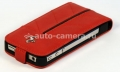 Кожаный чехол для iPhone 4/4S Ferrari Hard Case With Flap California, цвет красный (FECFFL4R)