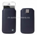 Кожаный чехол для iPhone 5 / 5S BMW Signature Sleeve, цвет Blue (BMPOP5LN)