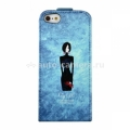 Кожаный чехол для iPhone 5 / 5S Fonexion City Girls Flip Leather, цвет Blue (CACIIP5FLI02)