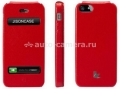 Кожаный чехол для iPhone 5 / 5S Jison Executive Flip Case, цвет red (JS-IP5-002Red)