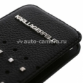 Кожаный чехол для iPhone 5 / 5S Karl Lagerfeld TRENDY Flip, цвет Black (KLFLP5TRSW)