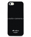 Кожаный чехол для iPhone 5 / 5S Melkco Leather Case iCaller Type with Melkco Cover, цвет Black LC