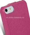 Кожаный чехол для iPhone 5 / 5S Melkco Premium Leather Case - Jacka Type, цвет Purple LC