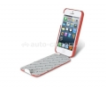Кожаный чехол для iPhone 5 / 5S Melkco Premium Limited Edition Jacka Type, цвет red/white