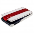 Кожаный чехол для iPhone 5 / 5S Melkco Premium Limited Edition Jacka Type, цвет White/Red LC