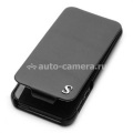 Кожаный чехол для iPhone 5 / 5S SGP Leather Case illuzion Legend, цвет black (SGP09645)