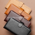 Кожаный чехол для iPhone 5 / 5S SGP Leather Wallet Case Valentinus, цвет light brown (SGP09525)