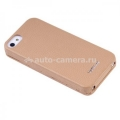 Кожаный чехол для iPhone 5 / 5S Vetti Craft Slimflip Normal Series, цвет khaki lychee (IPO5SFNS110113)