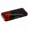 Кожаный чехол для iPhone 5C Melkco Leather Case Booka Type Craft Limited Edition Prime Verti, цвет Vintage Black/ Vintage Red