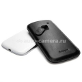 Кожаный чехол для Samsung Galaxy S3 Crumena Leather Pouch, цвет black (SGP09180)