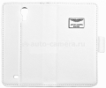 Кожаный чехол для Samsung Galaxy S4 (i9500) Aston Martin Racing book case, цвет white (FCSAMI95001B)
