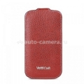 Кожаный чехол для Samsung Galaxy SIII Vetti Craft Slimflip Normal Series, цвет red lychee (SGY93SFNS110109)