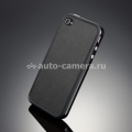 Наклейка на iPhone 4 и 4S SGP Skin Guard Leather Set Package, цвет deep black (SGP06769)
