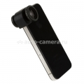 Объектив для iPhone 4 / 4S Photo lens 3-in-one 2x angle, цвет объектива черный