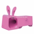 Подставка для iPhone 5 / 5S Ozaki O!music Zoo Rabbit B, цвет Pink (OM936RB)