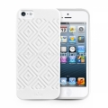 Силиконовый чехол на заднюю крышку iPhone 5 / 5S PURO Easy Chic Geometric Rhomby Cover, цвет white (IPC5GEO3WHI)