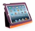 Чехол для iPad 3 и iPad 4 Capdase Folder Case Folio Canvas, цвет purple (FCAPIPAD3-P357 )
