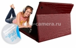 Чехол для iPad 3 и iPad 4 iFans Bluetooth Keyboard Case Croco, цвет red (BKB-IPD-09)