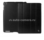 Чехол для iPad 3 и iPad 4 Jison Smart Leather Case, цвет black (JS-ID-007AB)