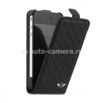 Чехол для iPhone 4S Mini Flip Leather Chequered, цвет Black (MNFLP4SQBL)
