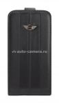 Чехол для iPhone 4S Mini Flip Leather Stripes, цвет Black (MNFLP4STBL)
