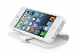 Чехол для iPhone 5 / 5S Capdase Folder Case Sider Classic, цвет white (FCIH5-SC22)