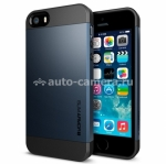 Чехол-накладка для iPhone 5 / 5S SGP Case Slim Armor S Color Series, цвет metal slate (SGP10365)