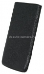 Кожаный чехол для HTC One V BeyzaCases Retro Super Slim Strap, цвет flo black (BZ22243)
