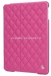 Кожаный чехол для iPad Air Jisoncase со стеганым узором, цвет pink (JS-ID5-02H33)