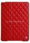 Кожаный чехол для iPad Air Jisoncase со стеганым узором, цвет red (JS-ID5-02H30)